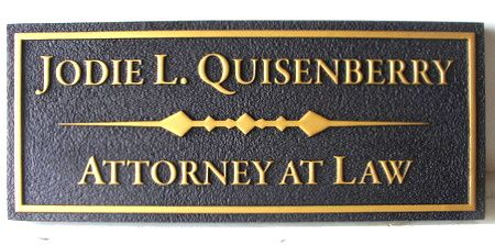 A10217 -  Attorney Office Sign for Door or Wall