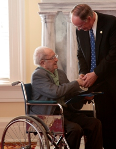 Governor Robert Bentley commissions Andrew Glaze as Poet Laureate of Alabama