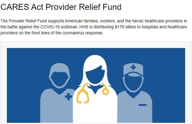 CARES Act Provider Relief Fund