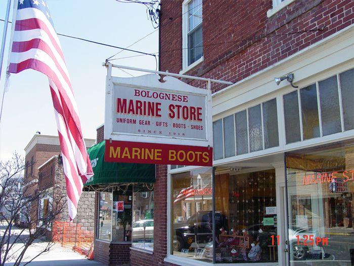 Marine Store Storefront Sign