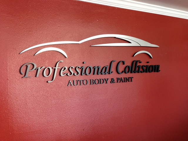 Lobby signs for auto body shops Orange County