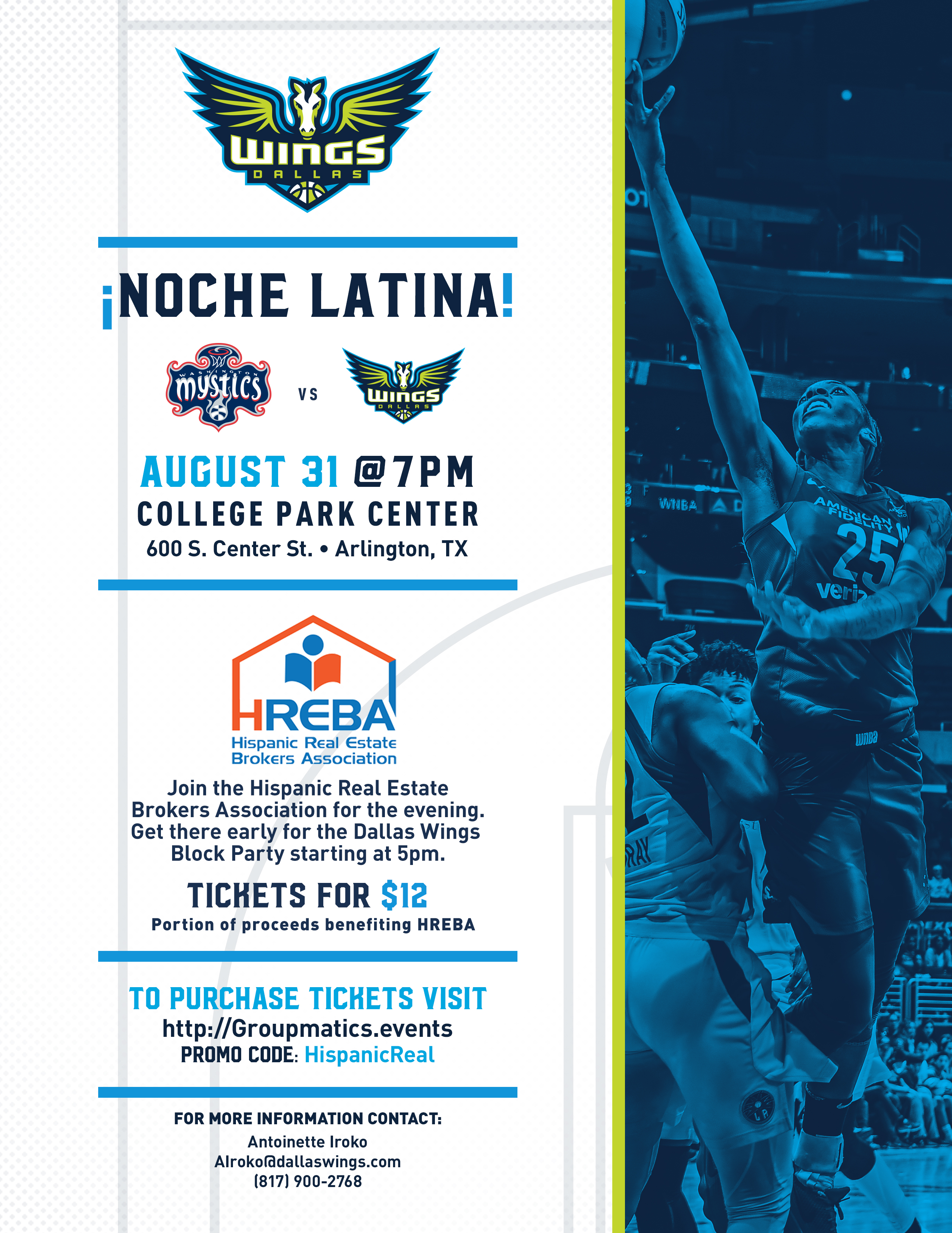 """Noche Latina"" with Dallas Wings"