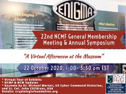 22nd NCMF General Membership Meeting & Annual Symposium - A Virtual Event on 22 October