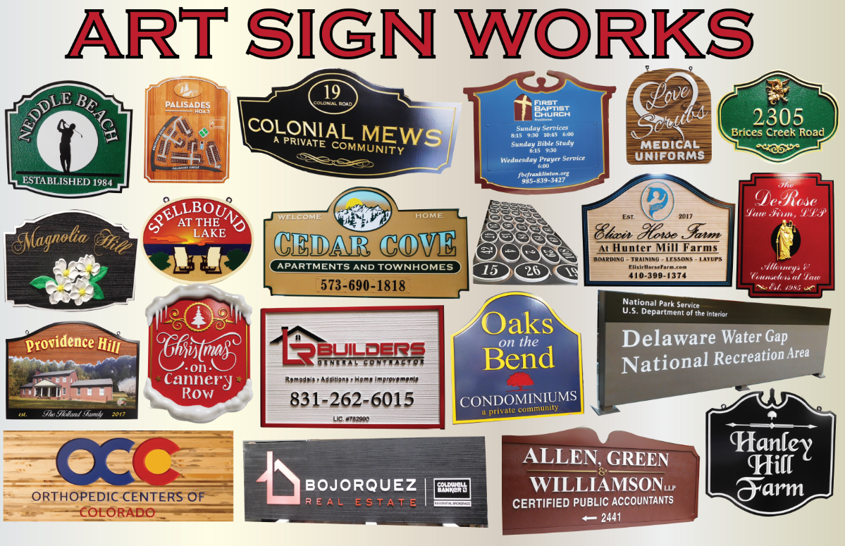 Recent Signs We Have Designed and Fabricated