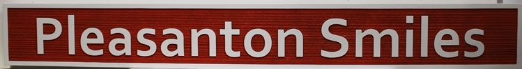 "BA11670 - Carved Dimensional HDU  Sign for ""Pleasanton Smiles"""