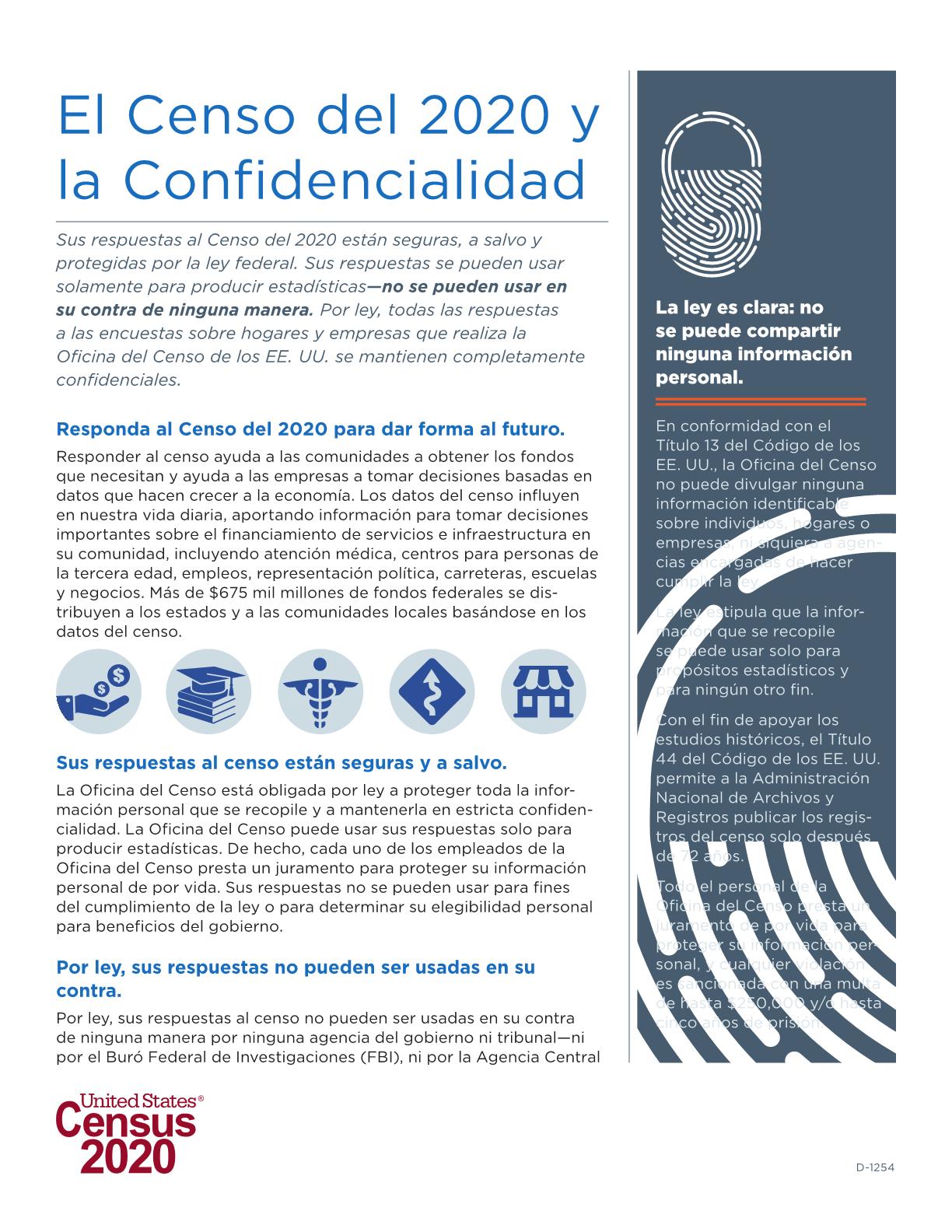 El Censo del 2020 y la Confidencialidad
