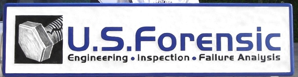 """SA28636 - HDU Sign for """"U.S. Forensic Engineering, Inspection Failure Analysis"""", with  Bolt Logo"""
