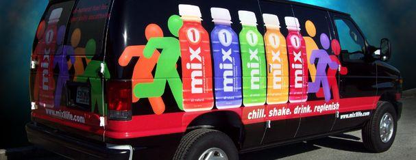Mixx Vehicle Graphics- Ford Van Full Wrap