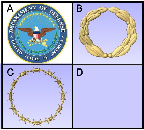 U30905 - Carved Military Seals and Symbols