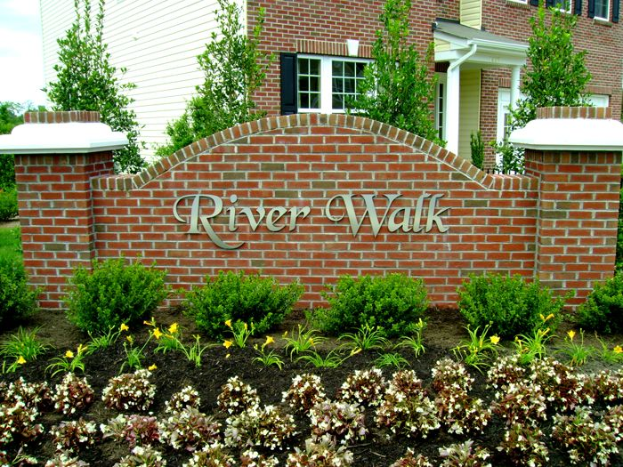 River Walk Community Sign