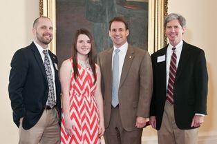 Sen. Bryan Taylor with Hanna Walker, teacher Joel Dilbeck, & Jimmy McLemore