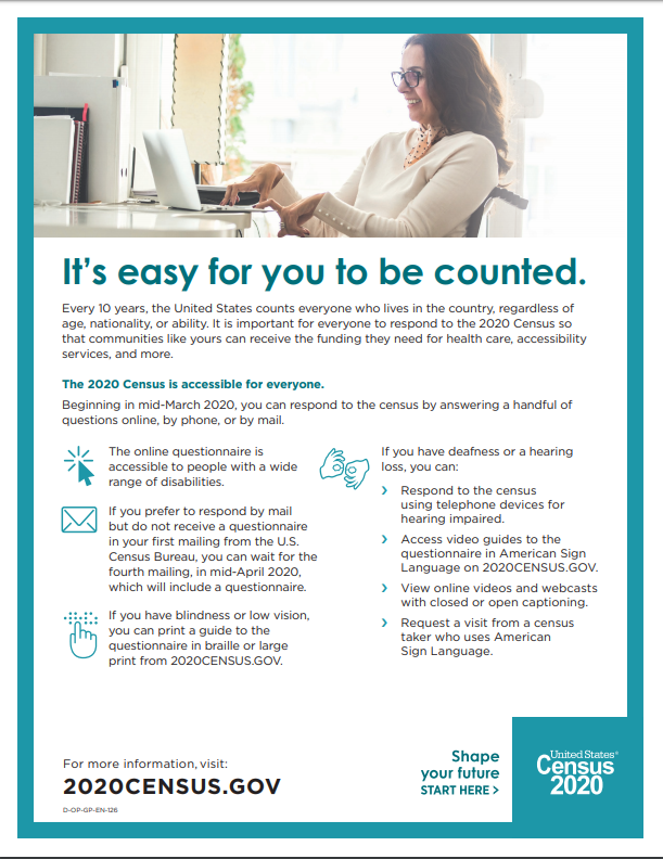 Fact Sheet on Accessibility of the 2020 Census