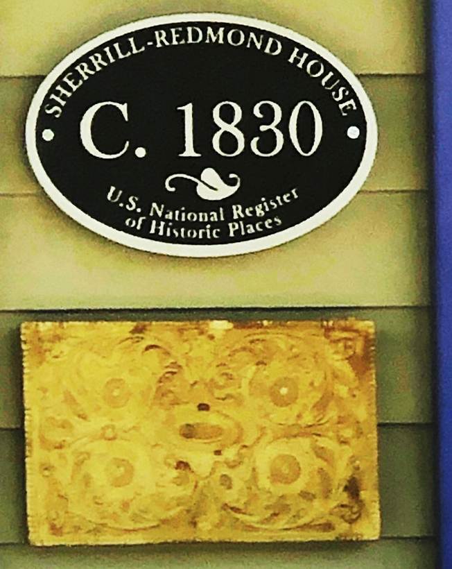 F15982 - Carved HDU  Outside Wall plaque for the Sherill-Redmond House,in the NationalRegister of Historic Places