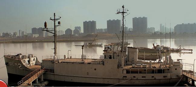 USS Pueblo on Display in North Korea