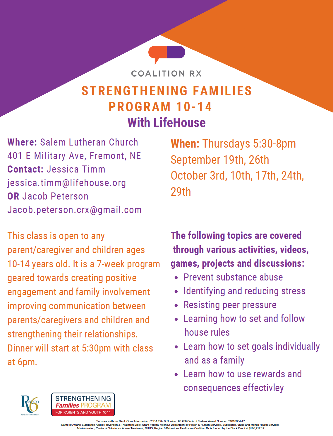 Strengthening Families 10-14 with LifeHouse