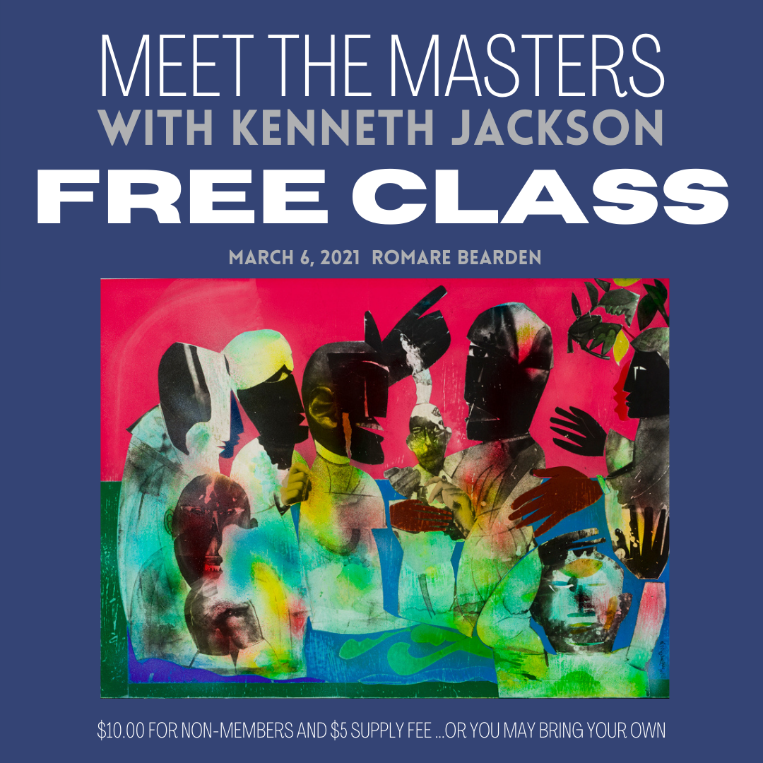 Meet the Masters FREE Art Class - Featuring the Master Artist Romare Bearden
