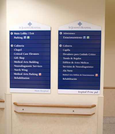 Bilingual Directional Signs