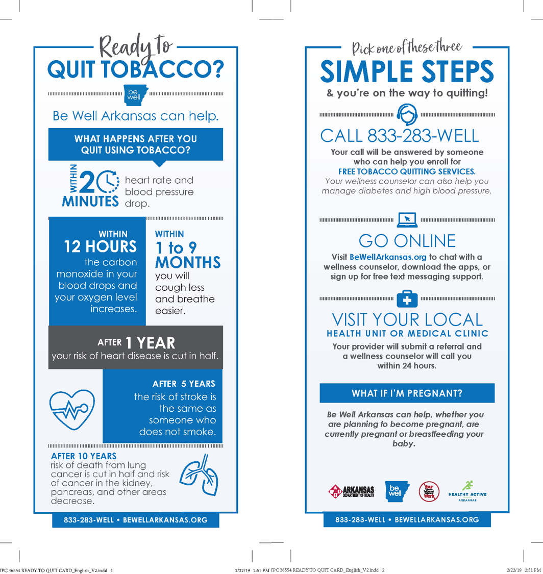 Quit Tobacco & Simple Steps - Know the Facts Panel Cards