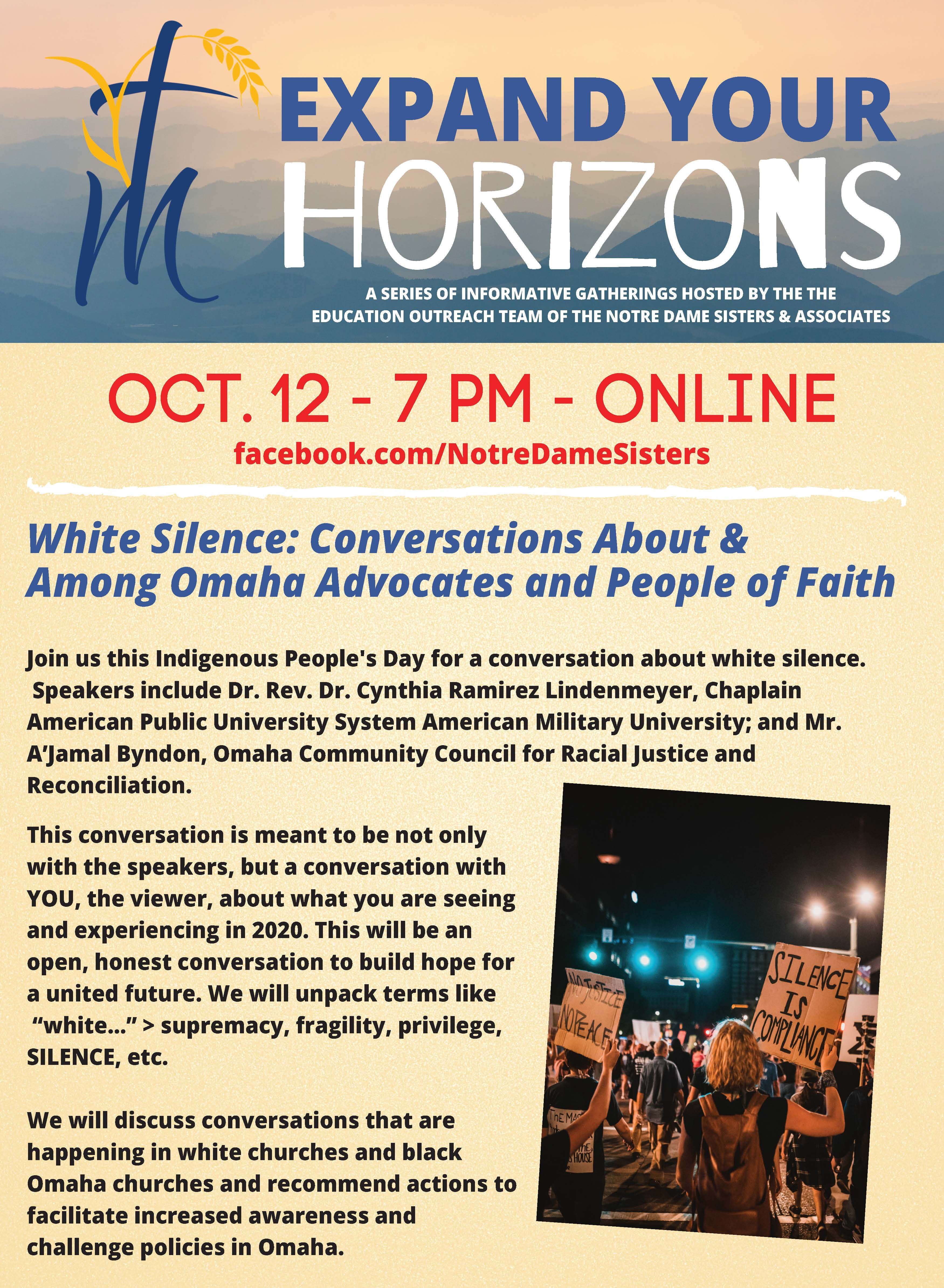 White Silence: Conversations About & Among Omaha Advocates and People of Faith