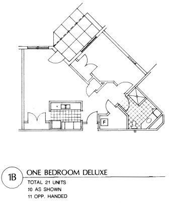 Apartment 1 B Floor Plan
