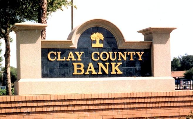 C12202 - Stucco & Tile Facade Bank Monument Sign