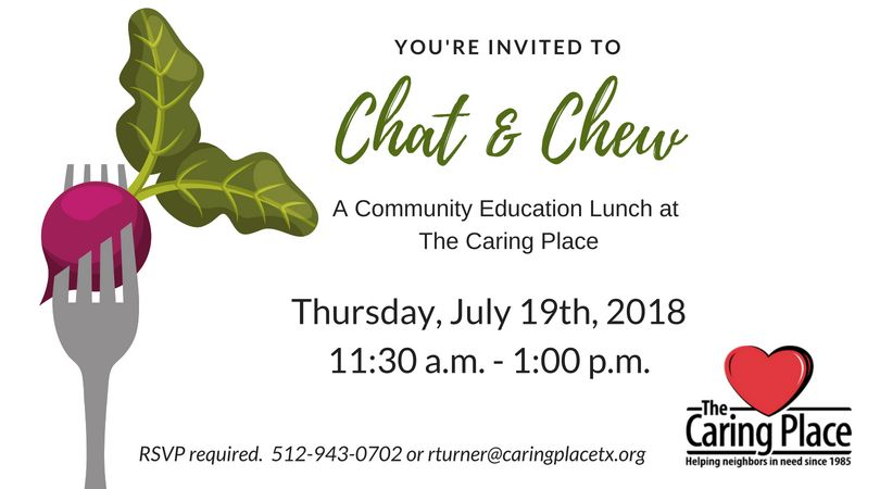 Chat & Chew Scheduled for July 19