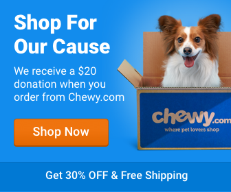 Order your Pet Food at Chewy.com and Planned Pethood will get a $20 donation!