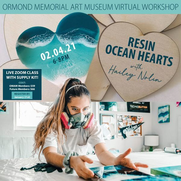 Resin Ocean Hearts Virtual Workshop