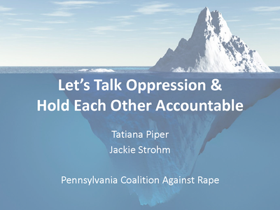 Let's Talk Oppression & Hold Each Other Accountable