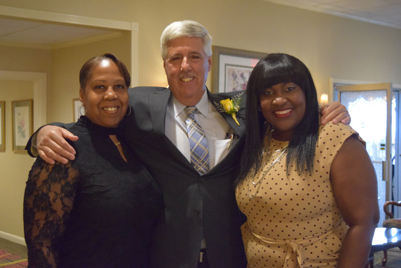 Greg Goldstein with committee members Lesia Williams and Annmarie Taylor-Hardy