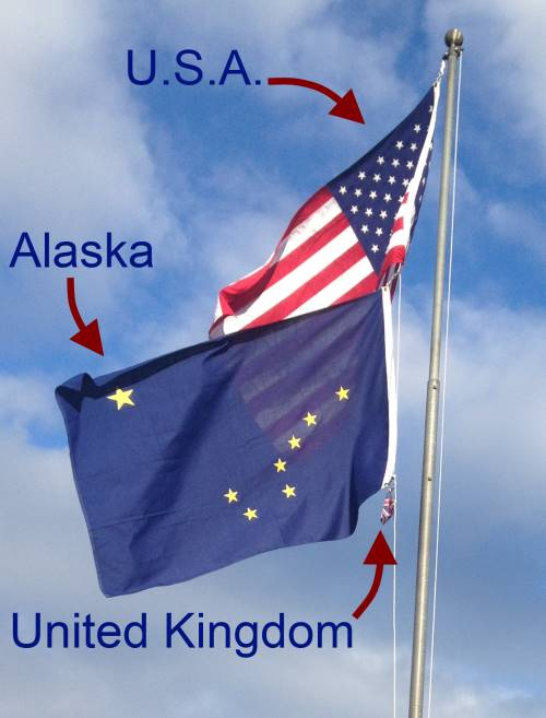Flags, United States, Alaska, United Kingdom