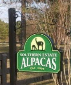 O24406 - Carved &  Sandblasted Alpaca Farm Sign