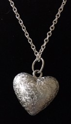 Silver Heart Chimes