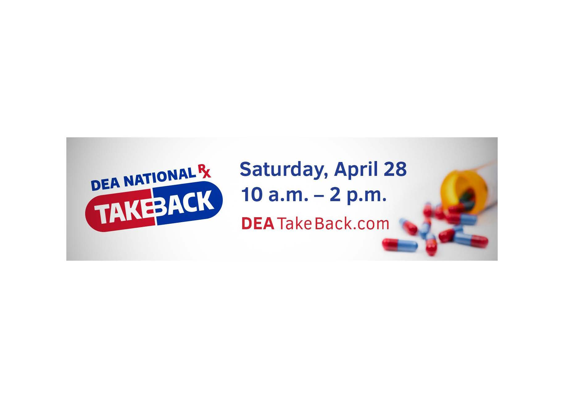 Drug Take Back Day is April 28th, 10 am to 2 pm.  Bring your unused Rx, veterinary and OTC medications to Niskayuna Town Hall and we will do the rest!
