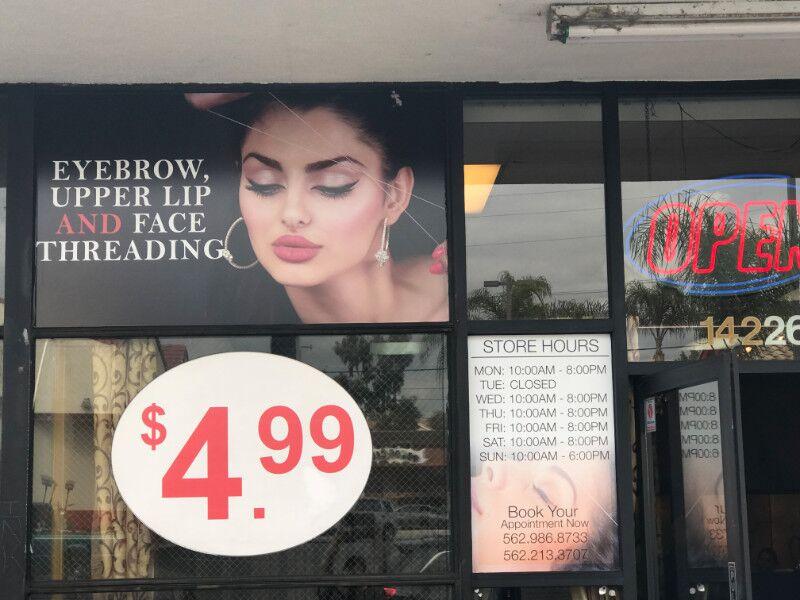 Beauty Salon Window Graphics Orange County CA