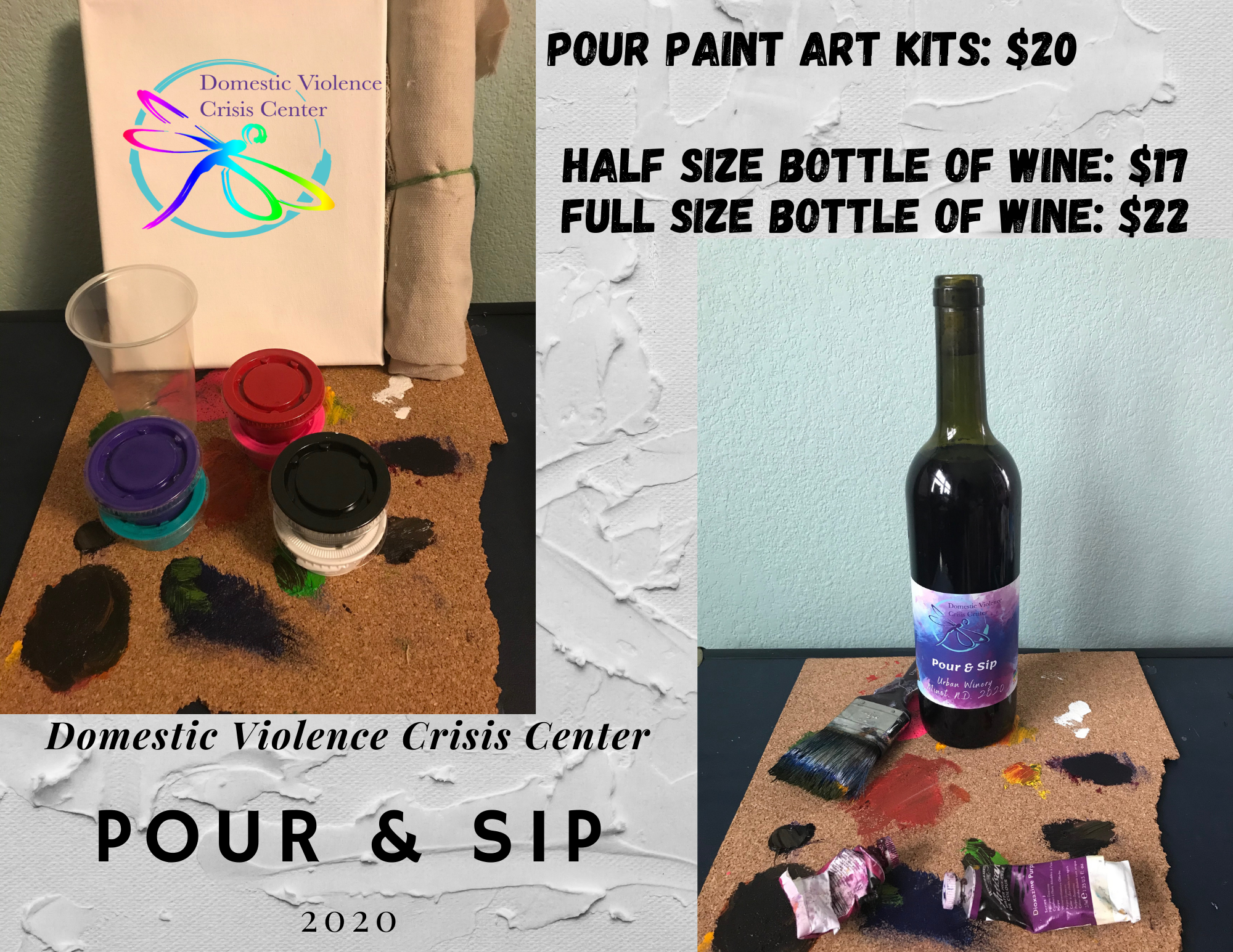 Pour & Sip Wine and Art Kit Fundraiser