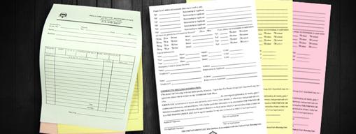 Carbonless | Forms | NCR | Printing | Pittsburgh | Verona