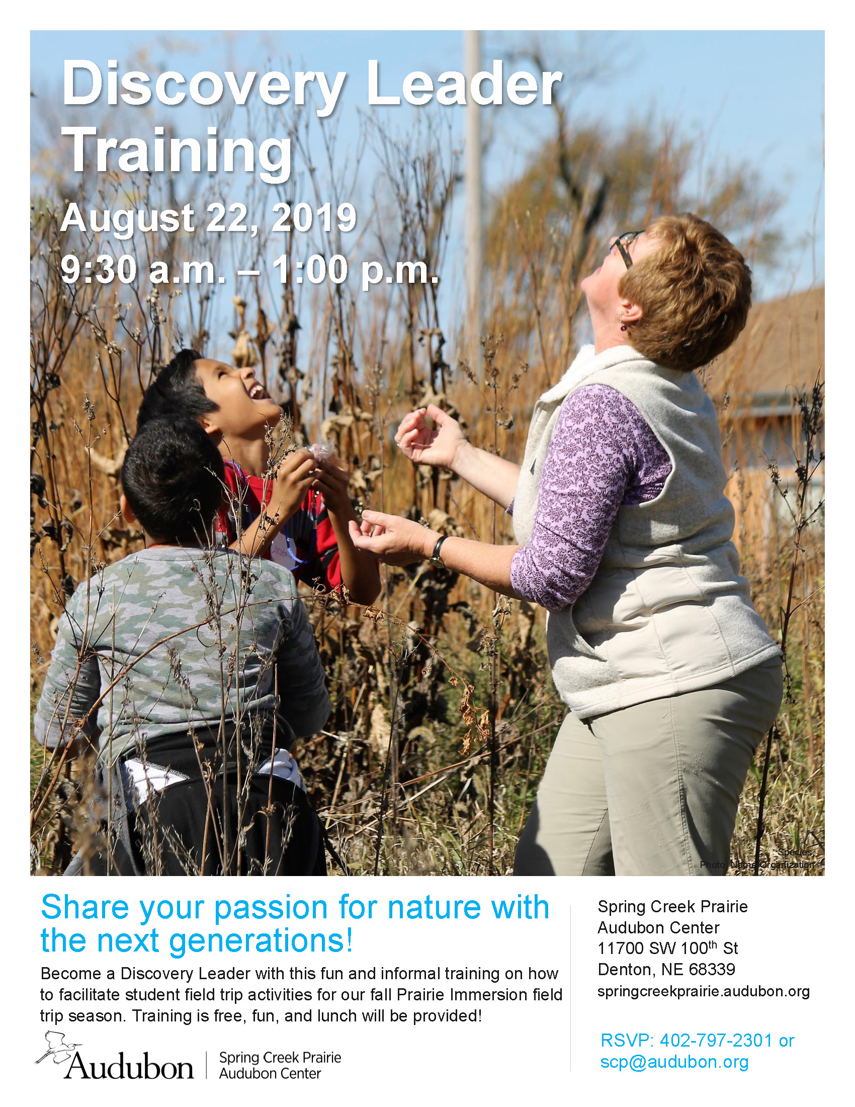 CE & VO: Discovery Leader Training - Spring Creek Prairie