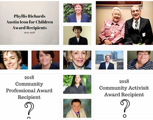 Congratulations to the Phyllis Richards Austin Icon for Children Award Nominees