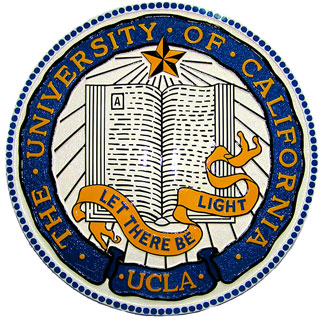 Y34392 - Carved 2.5-D HDU (Flat Relief)  Wall Plaque of the Seal of UCLA