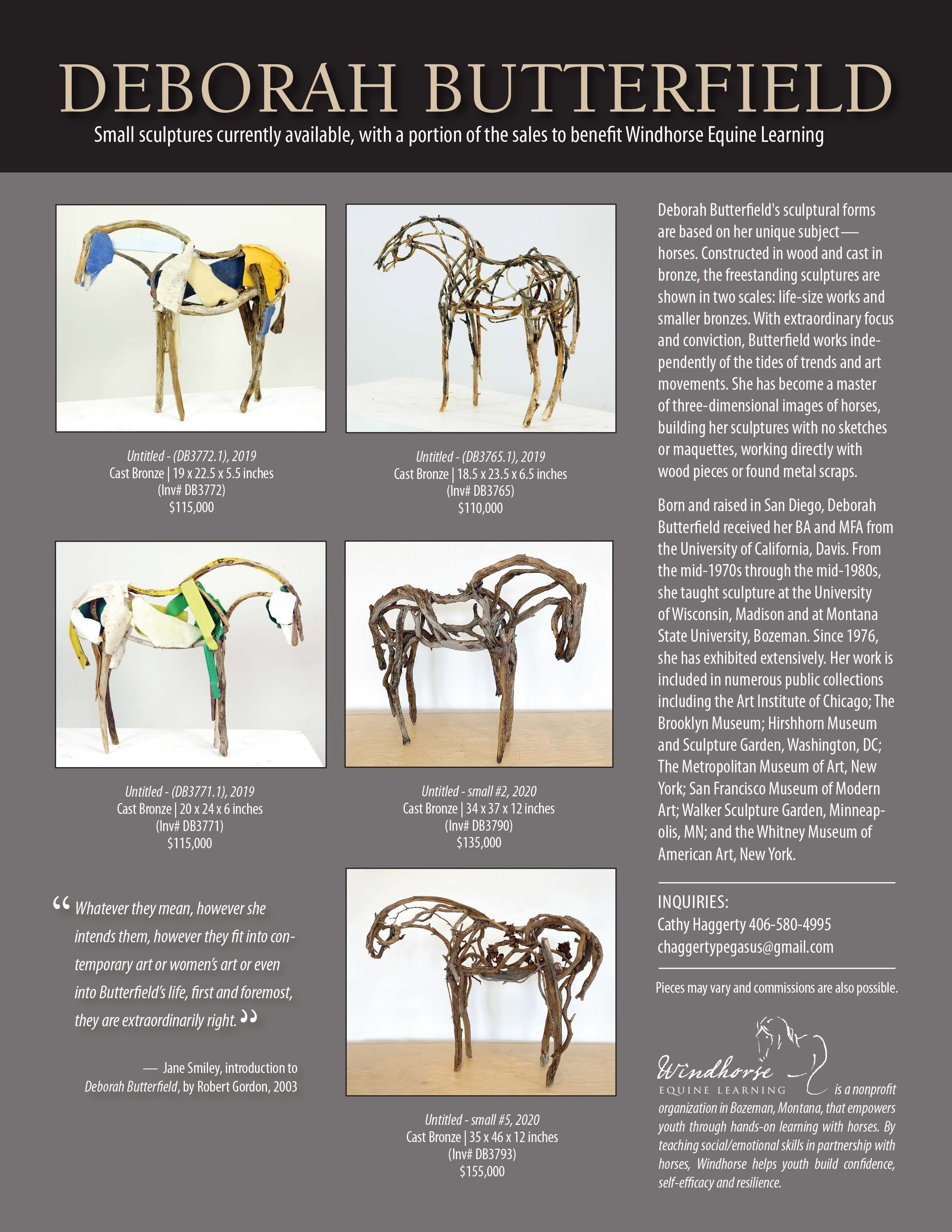 Purchase a Unique Deborah Butterfield Sculpture and Support Windhorse