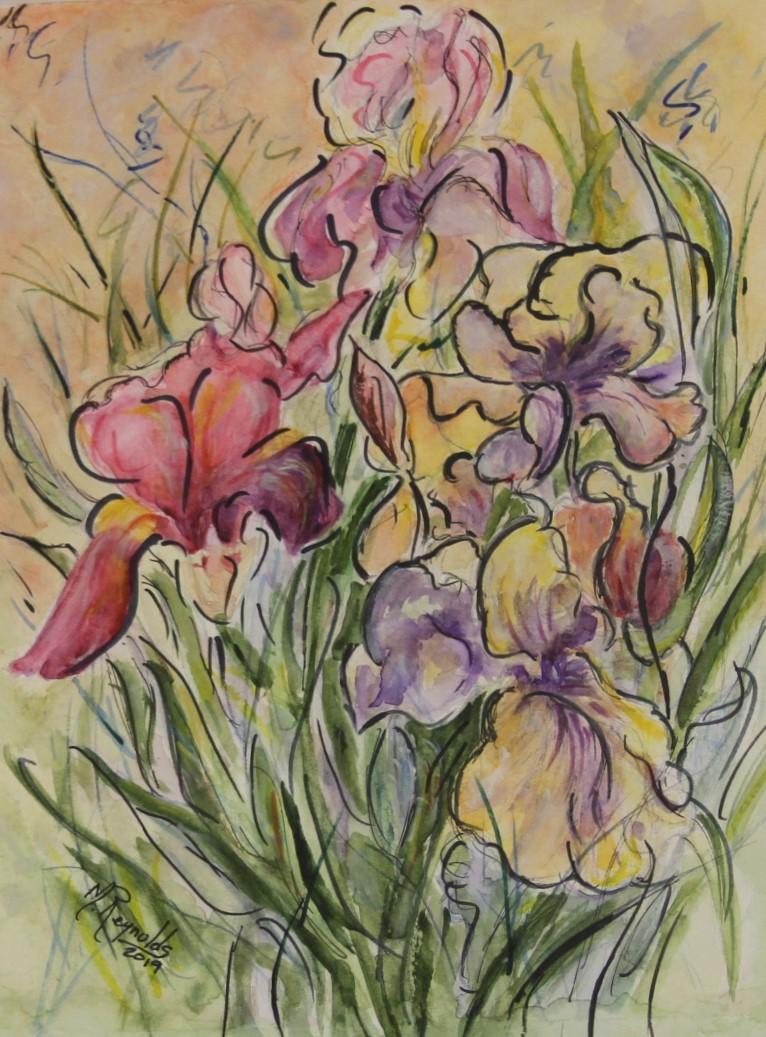 Dancing Irises