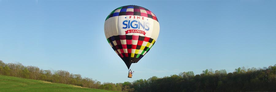 Fine Signs Hot Air Balloon