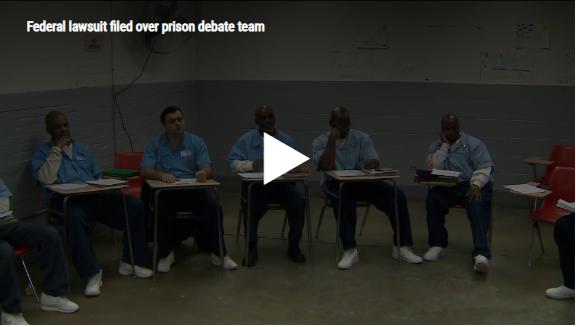 Federal lawsuit filed over prison debate team