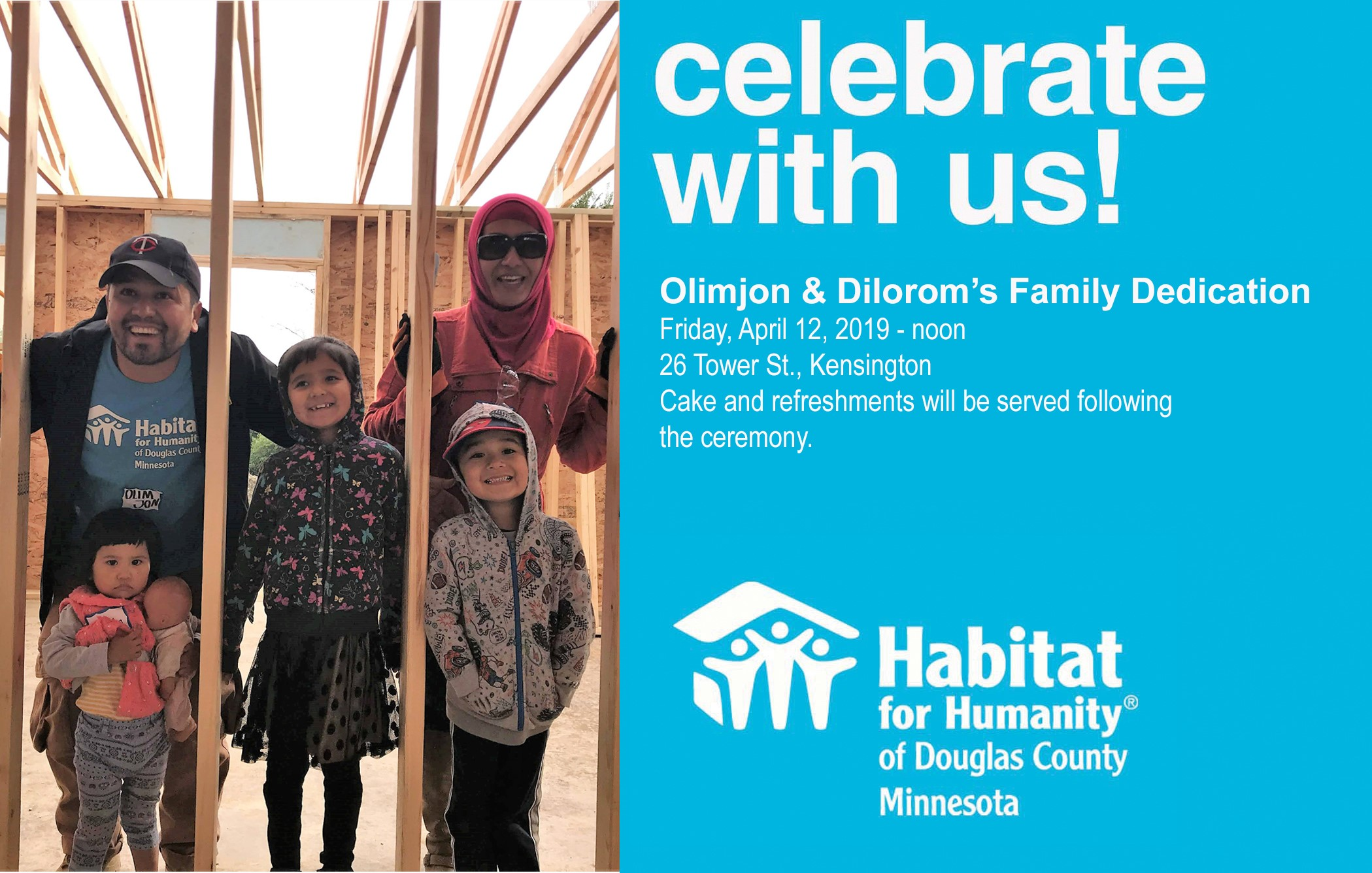 Join Us for Olimjon & Dilorom's Dedication