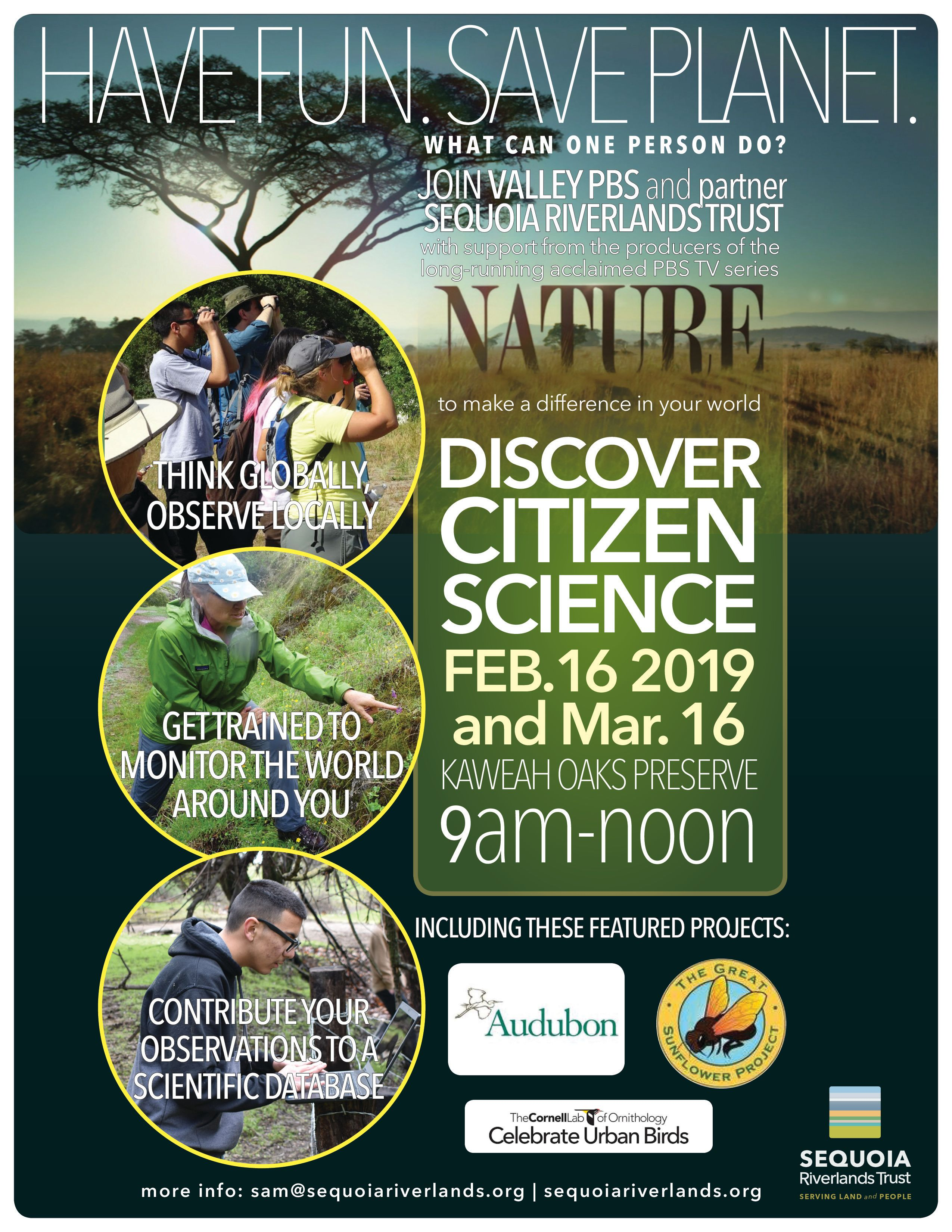 PBS Nature and SRT present Citizen Science Training