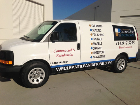 Contract Van Graphics And Lettering Orange County