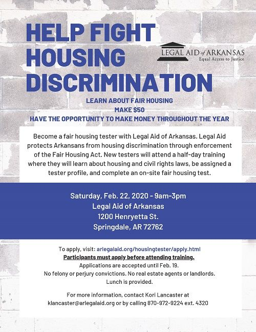 Fair Housing Tester Training - Springdale