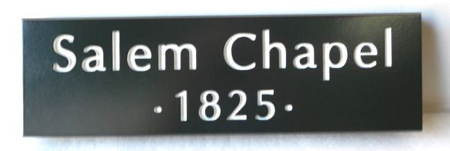 D13160 - Engraved Sign for Salem Chapel, founded in 1825