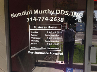 Fullerton Ca Dentist Brands With Window Graphics And